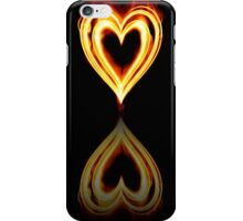 Flaming Heart on Fire with Reflection iPhone Case/Skin