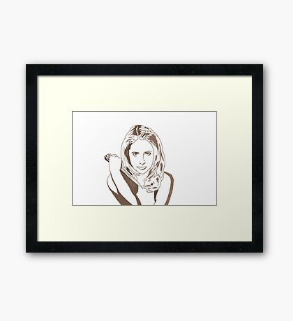 Into each generation, a Slayer is born Framed Print