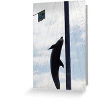 High Flyin' Dolphin Greeting Card