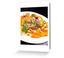 Apricot & Sicilian Tuna salad with a Benzaldehyde vinaigrette Greeting Card