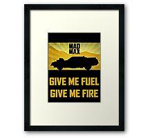 Mad Max Interceptor Framed Print
