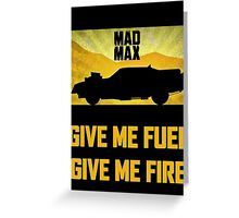Mad Max Interceptor Greeting Card
