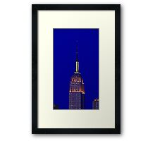 Empire State at night Framed Print