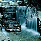 Post-glacial Waterfall by Robert Miesner