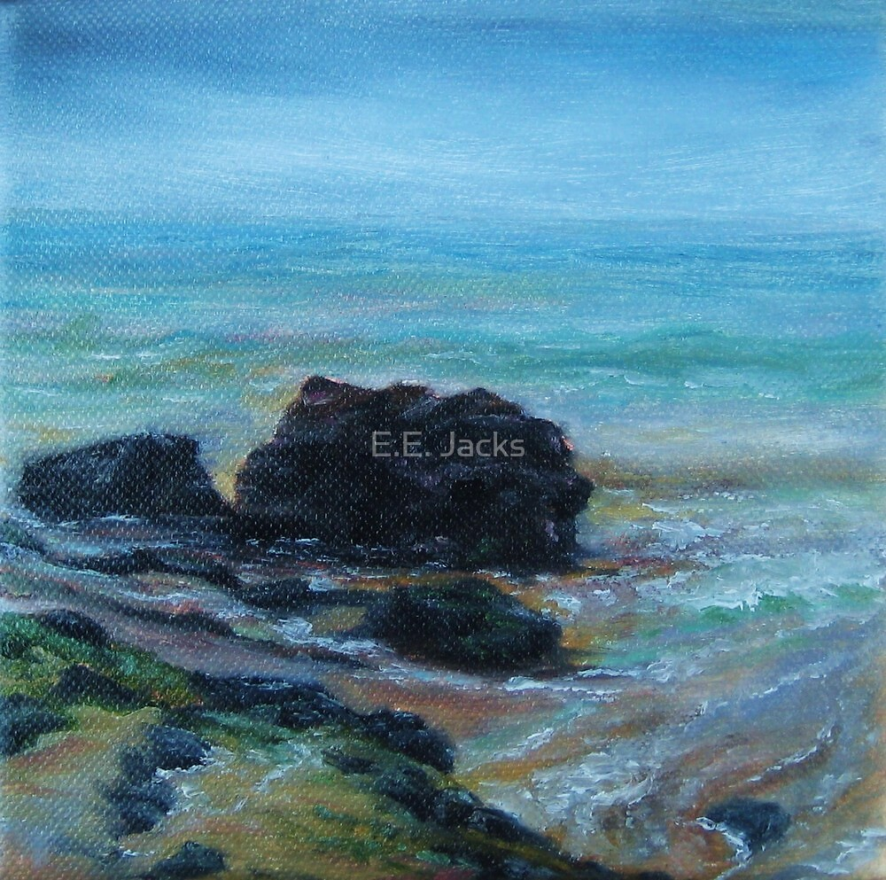 Somber Sea Rocks by E.E. Jacks
