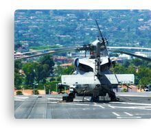 Copter on a Carrier Canvas Print