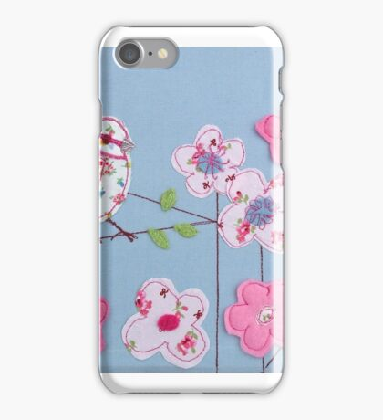 Embroidered bird iPhone Case/Skin