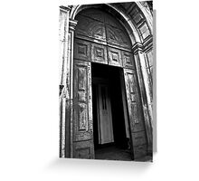 Entrance to the Cathedral of St Catherine of Alexandria Greeting Card