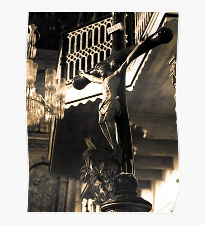 Inside the Cathedral of St Catherine of Alexandria Poster