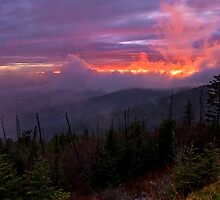 Sunset from Clingman's Dome by Gary & Marylee Pope