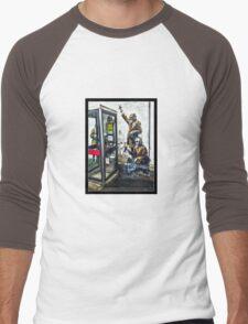 Government listening post by Banksy! Men's Baseball ¾ T-Shirt