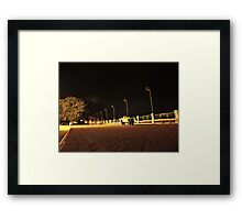 Sitting by the Dona Paula Harbour Framed Print