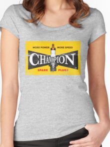 Vintage Spark Plug Women's Fitted Scoop T-Shirt