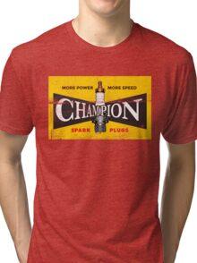 Vintage Spark Plug Tri-blend T-Shirt