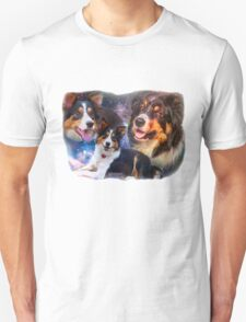 Space Border Collies rule the Universe Unisex T-Shirt