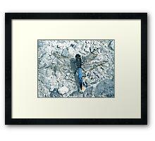 Powder Blue Dragon(fly) - Lodmoor Reserve Weymouth Framed Print