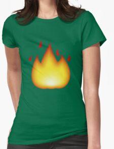 Flame Emoji Womens Fitted T-Shirt