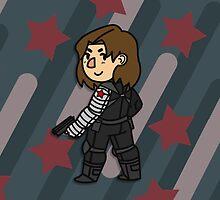 Bucky Barnes: The Winter Soldier by flightysdoodles