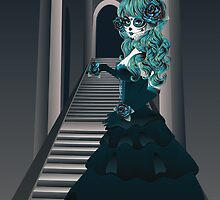 Day of the Dead Girl in Crypt by AnnArtshock