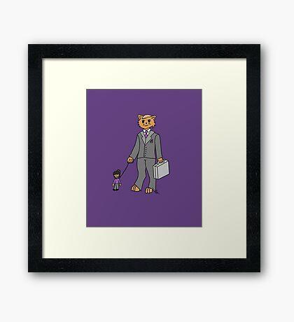 Business Cat Framed Print