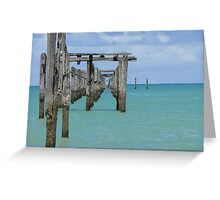 Pier view in a sunny day - Cumuruxatiba, Bahia, Brazil Greeting Card