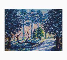 Impressionism, Fauvism Landscape Painting of the forest on canvas One Piece - Long Sleeve