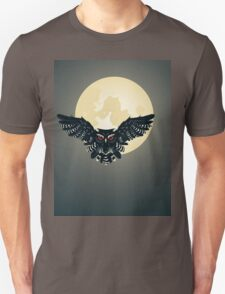 Owl and Full Moon Unisex T-Shirt