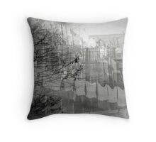 as memory fades and falters Throw Pillow