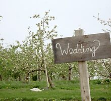 Wedding in the Garden Sign by Michelle Callahan