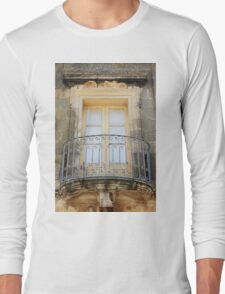 A beautiul traditional window of Gozo Long Sleeve T-Shirt