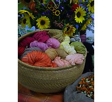 Wool Dyed with Natural Materials Photographic Print