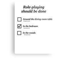 Do you role-play in the bedroom? Metal Print