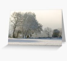 Another Winter Scene Greeting Card
