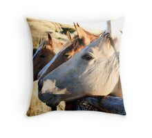 The Happy Mares Throw Pillow