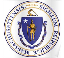 Massachusetts State Seal Sticker Poster