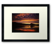 Director James Ivory and Lake of the Woods Sunset Framed Print
