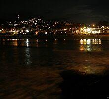 Night Lights - Pismo Beach California by pdsimonson