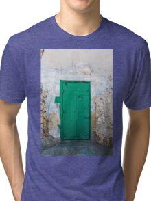 Green Door of Gozo Tri-blend T-Shirt