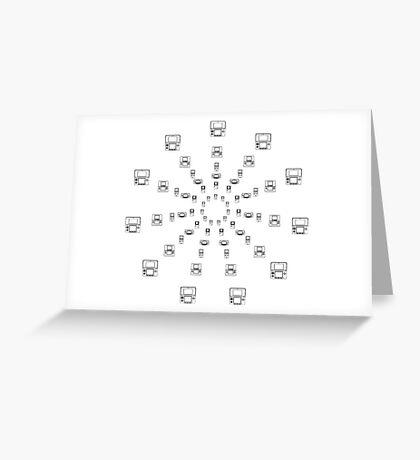 NINTENDO TIMELINE Greeting Card