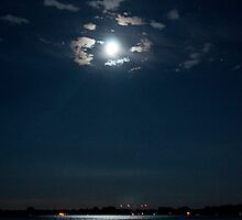 The Moon Over Toronto Harbour by Gary Chapple