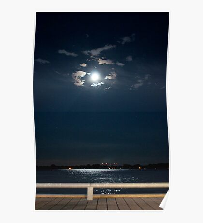 The Moon Over Toronto Harbour Poster