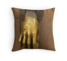 Door Knocker, San Miguel Throw Pillow
