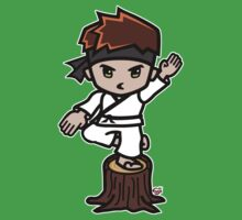 Martial Arts/Karate Boy - Crane one-legged stance One Piece - Short Sleeve