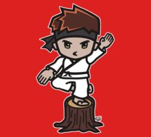Martial Arts/Karate Boy - Crane one-legged stance Kids Tee
