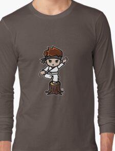 Martial Arts/Karate Boy - Crane one-legged stance Long Sleeve T-Shirt
