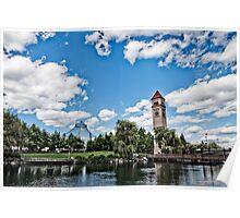 Lakefront Park at Spokane, WA Poster