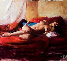 Red Blanket by Matt Abraxas