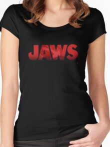 Jaws Logo Tee Women's Fitted Scoop T-Shirt