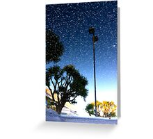 Snow in August Greeting Card