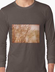 Bunch of sepia toned grass Long Sleeve T-Shirt